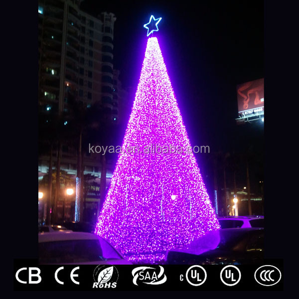 9---11m high GS, CE, CB, SASO, PSE,UL, CUL approved floor-standing 3D Christmas tree lights