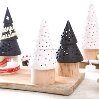 European-style christmas tree ceramic candlestick tea light candle holder birthday gift wedding home decoration ornaments