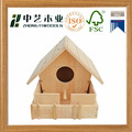 Hot selling Pine wood bird house, bird nest with yard