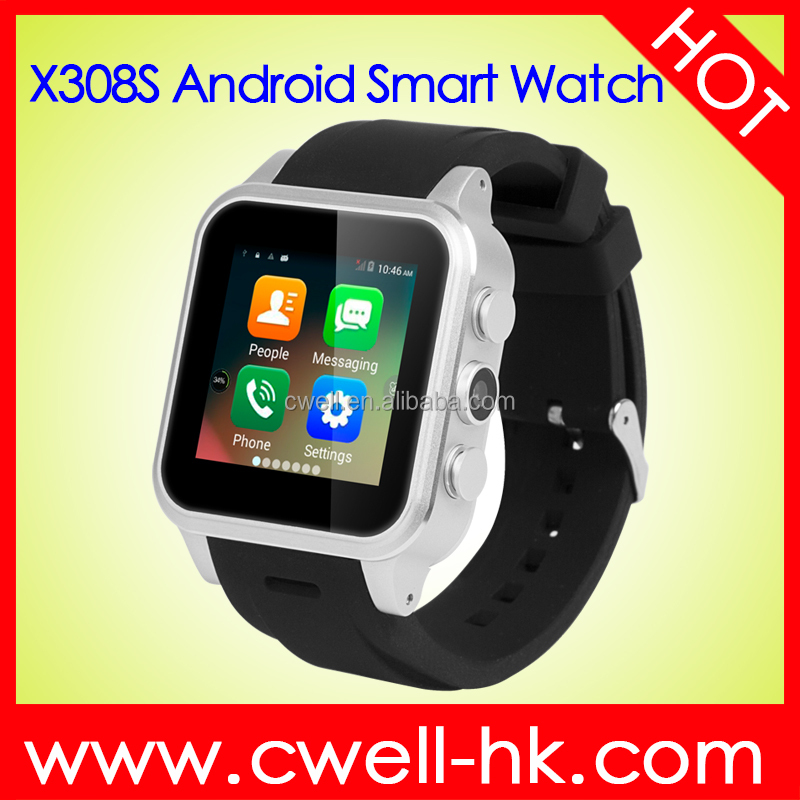 hand watch mobile phone price Smart X308S 1.54 Inch IPS Screen Aluminum Alloy Body 3G Android OS