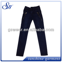 zip decorated classiacl blue women jeans