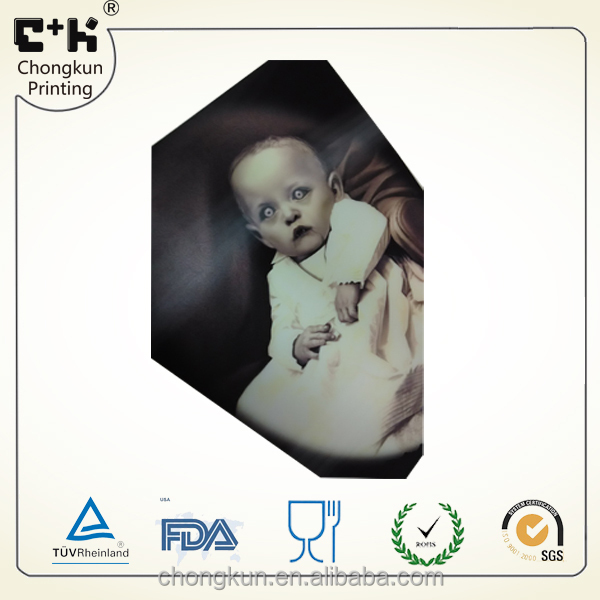 Popularly welcomed hot selling Halloween technological 3D lenticular PET cute baby horrific picture