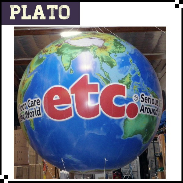 Inflatable ETC Print Helium Ball , large inflatable earth printed ball