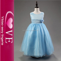 Wholesale Colorful Girl Party Wear Latest Design Flower Girl Dress Wedding Fancy Children Girl Dress