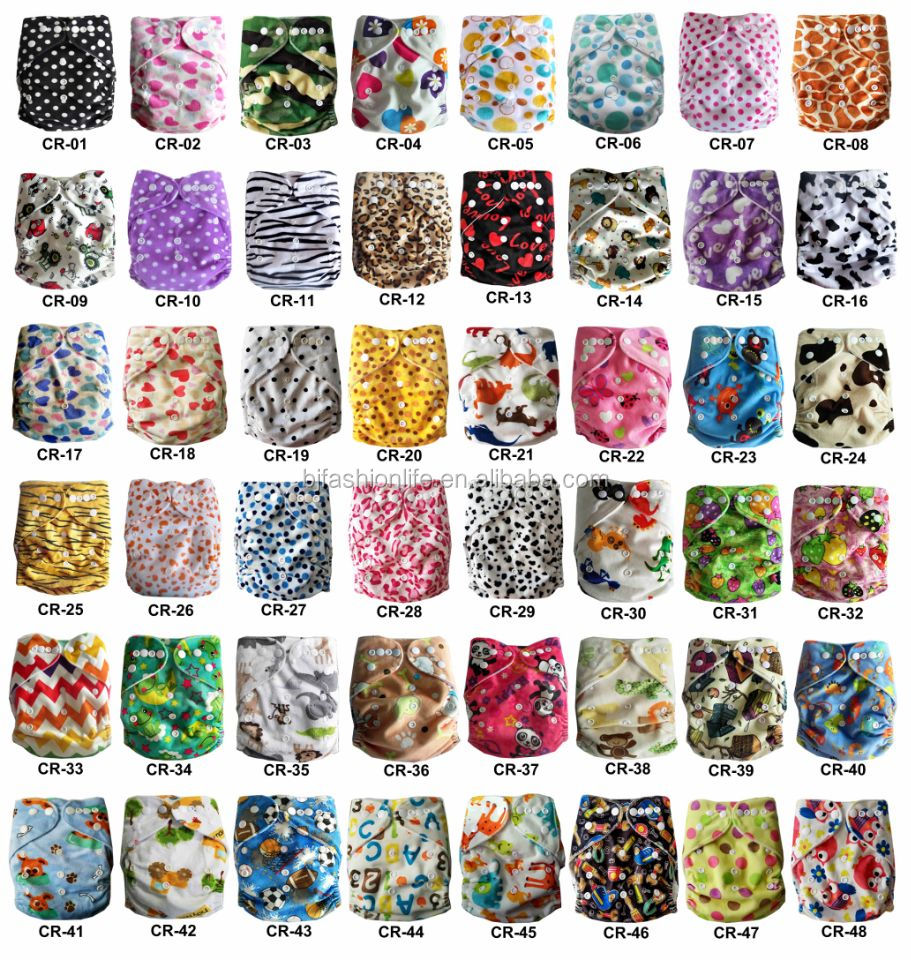Best Quality Waterproof Cloth Diapers for Baby Girl And Boy adjustable Nappies China Factory