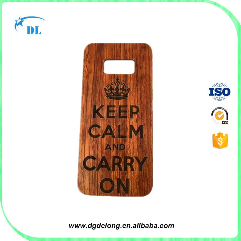 Hot Sale Rose Wood Cases for Samsung Galaxy S8 Bamboo Cell Phone Cover