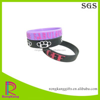 Custom Embossed Silicone Wristband Printed Texts