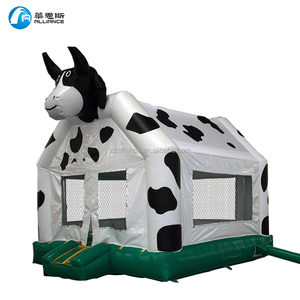 pvc tarpaulin 0.55mm cow castle commercial inflatable bounce house