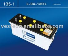 12V 180AH Dry charged Auto battery 6-QA-180 N180
