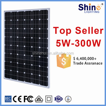Top 1 china suppliers 200w solar panels price for solar power plant/ home/ air conditioner system use