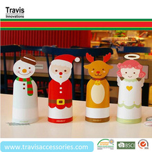 Wholesale Cute Christmas Santa Claus 3D Card Decoration, Snowman Cylinder Paper Cards For Benediction