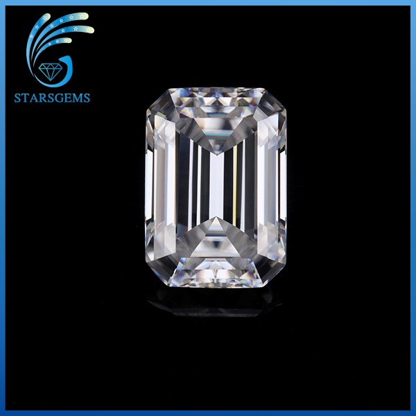 Super White 12x10mm Emerald Cut VVS Loose Diamond Moissanite Stone For Wedding Ring.
