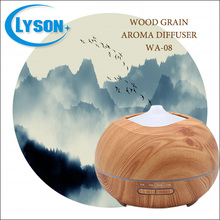 300ML Wood Grain Painted 3 Mode Timer Tabletop Aroma Mini Diffuser
