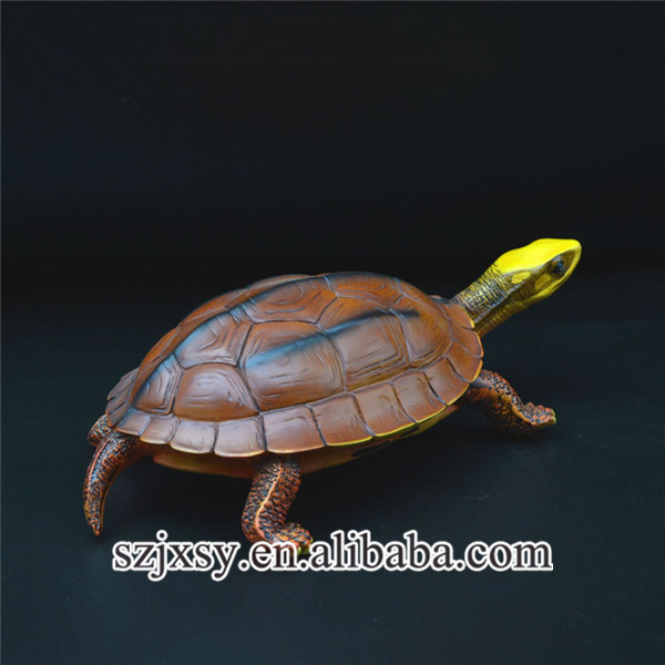 collectible small lifelike poly resin turtle figure