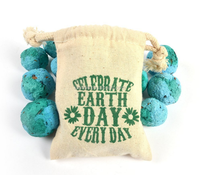 heavy cloth best price cotton seed bags with wildflower printing