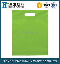 wholesale LDPE poly gift carry out bags plastic die cut merchandise bags