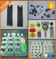 OEM customized rubber button keypad for home button