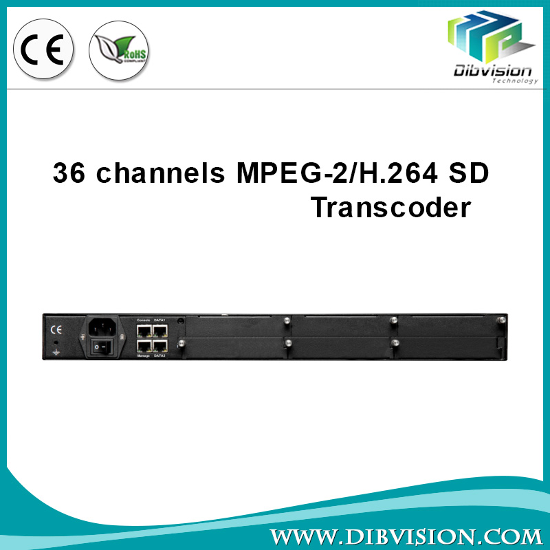 36 SD broadcast digital headend equipment DVB transcoder support automatic generation or manual editing of network