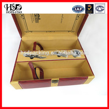 2015 Newest Style Made In China Factory Price Printing stand wine box