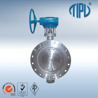 Gear Operated Double Eccentric Flange Stainless Steel PVC Butterfly Check Valve