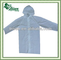 Promotional PE waterproof disposable raincoat