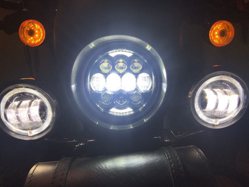 "80W 5.75"" high low beam motorcycle 5.75 inch led headlight for Harley Davidson"