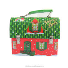 Special design with cute house shape tin box for Christmas or gift or kids or wedding or other festival promotion