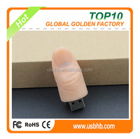 2015 fresh great quality free logo free sample wonderful golden finger U disk