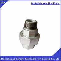 Malleable union M&F falt seat , galvanized malleable iron pipe fitting