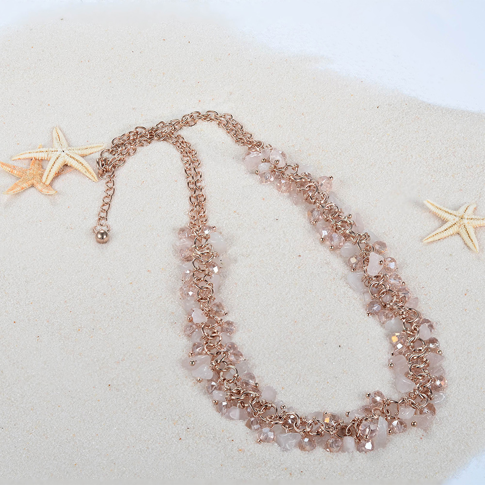 Meno Rose gold Fashion Flower all matched necklace for summer beach relaxing
