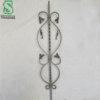 Decorative Ornamental Handmade Forged Wrought Iron Fence Scroll Decorations