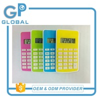 Top quality hot sell necklace mini calculator solar