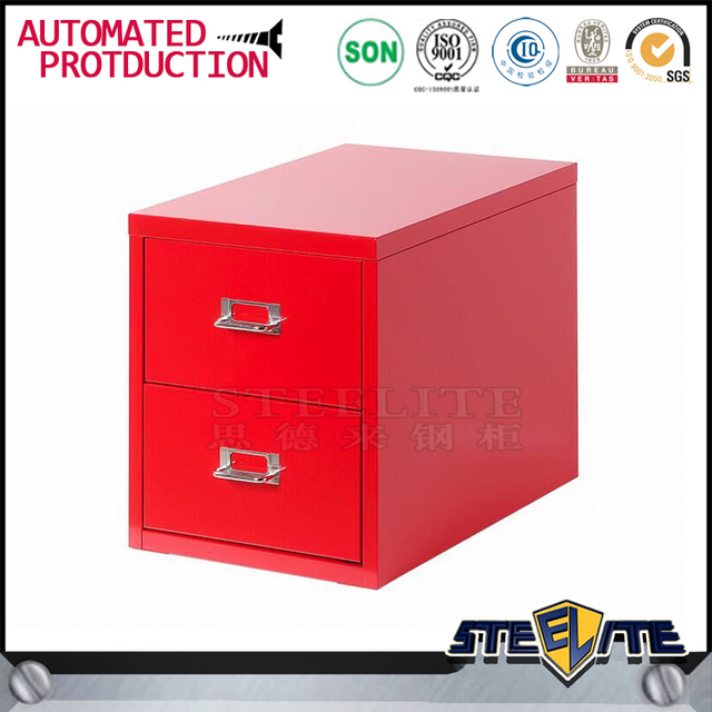 Space Saving Home Furniture Red Color 2 Drawer File Cabinet
