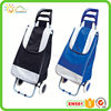 Foldable shopping trolley blue sky travel luggage bag