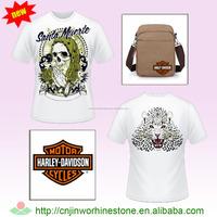 custom design cartoon heat transfer, heat press patches for clothing, t shirt,