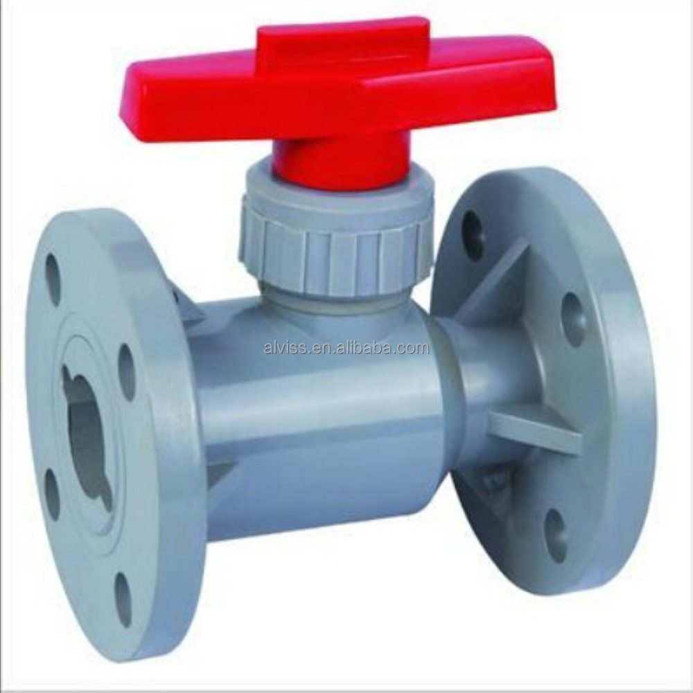 flange type cpvc 4 inch ball valve for chemical industry