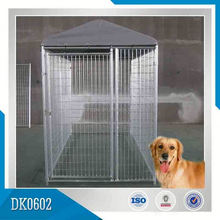China Factory Manufacturer Supplied Galvanized Large Cheap Steel Structure Dog Kennel/Dog House With Wire