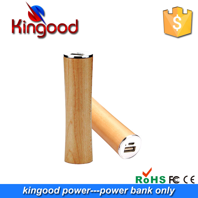 2016 Promotional gift mini wooden tube powerbank 2200 mah for samsung galaxy