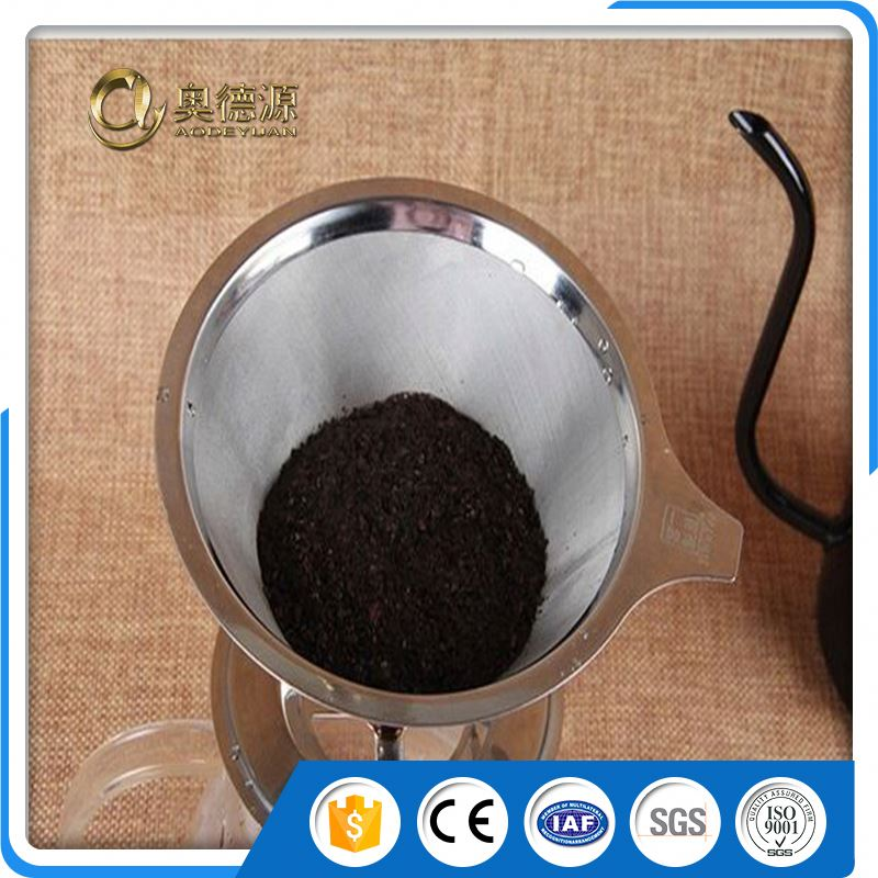 wholesale stainless steel 1 micron filter mesh coffee dripper wire mesh