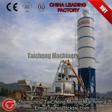 8t/h mobile hauling type concrete mixing plant factory price