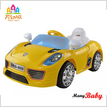 Footpedal accelerator remote control car kids ride on with working hom