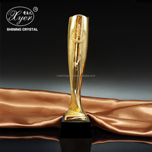 Metal resin trophy cup gold plated medals and trophies for souvenir