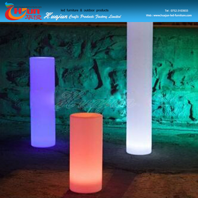 Good quality wedding decoration plastic led pillars,decorative pillars for balcony