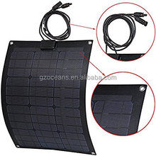 Flexible solar panel bendable thin and light 50W 125 monocrystalline solar cell with CE and RoHS approved