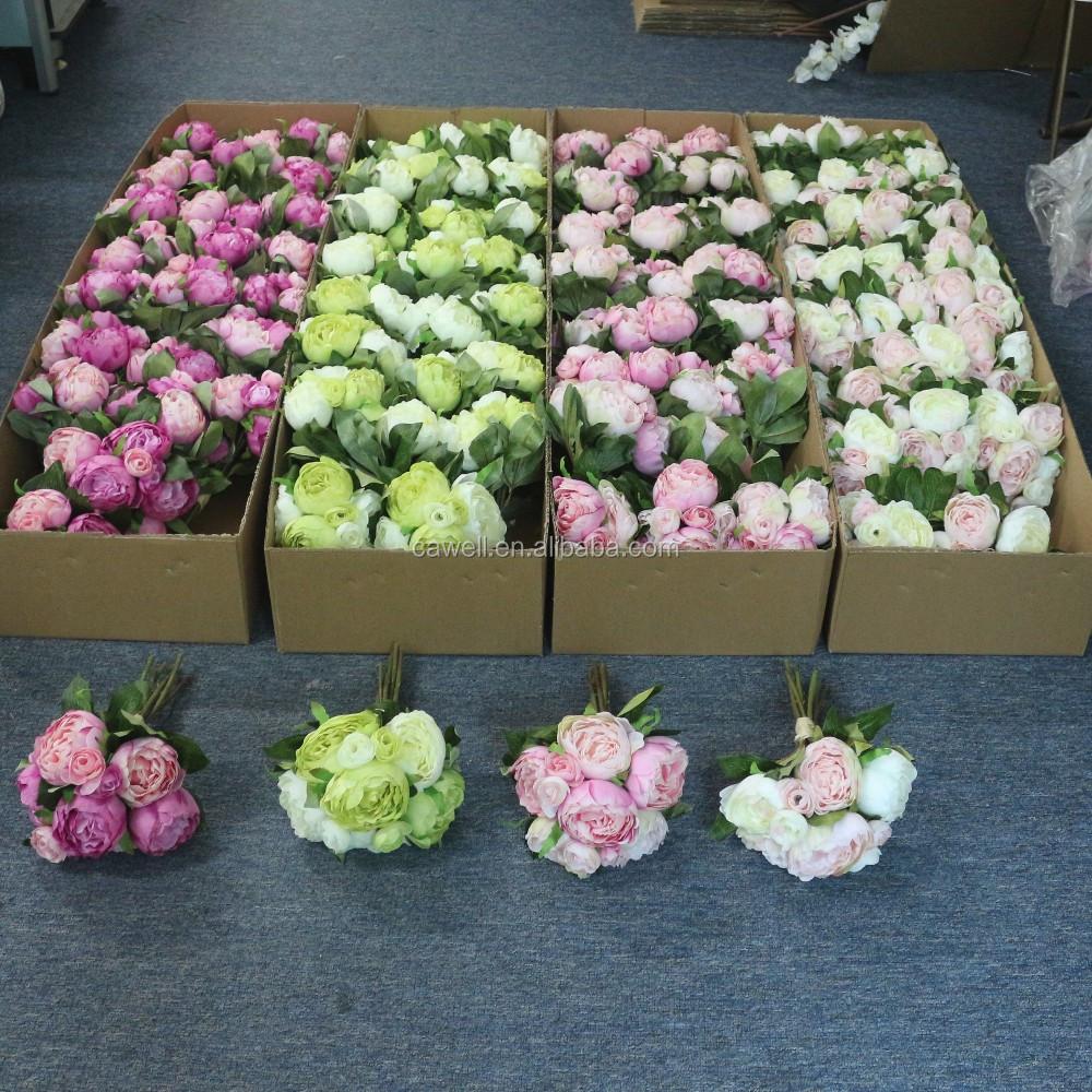 yiwu bulk wholesale 12 wedding bridal peony silk artificial flowers view artificial flower. Black Bedroom Furniture Sets. Home Design Ideas