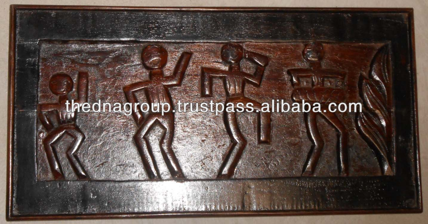 Wooden Carved Wall Decor Tribal Art