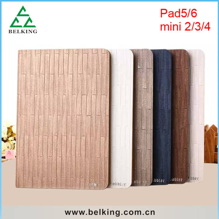 Vertical Stripes Pattern Leather Cover For iPad 2/3/4/5/6 Folder Standing PU Case