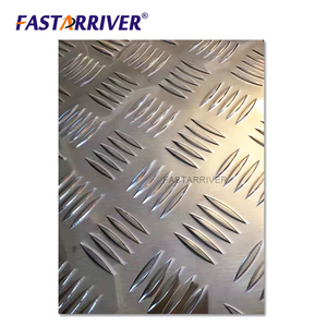 5 Bar Aluminum Chequer Plate Embossed Sheet