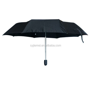 Pongee fabric automatic open & close 3 fold umbrella