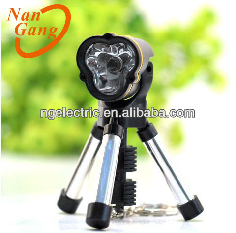 Mini Tripod White LED Flashlight Keychain Promotional Flashlight